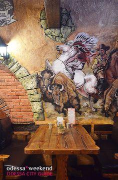 Grill bar BIZON in Odessa #odessa #bar #interior #wild_west #city_guide #Ukraine #Одесса #bbq #интерьер #пивная #cellar