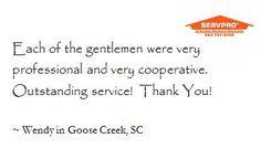 Thank you, Wendy!  Goose Creek, SC