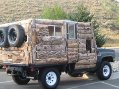 camper converted into gypsy wagon | vintage truck that's been converted into a one of a kind camper ...