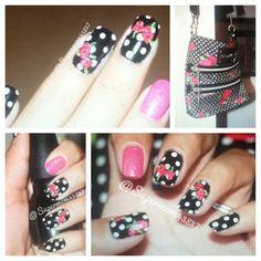Betsey Johnson inspired nails!!
