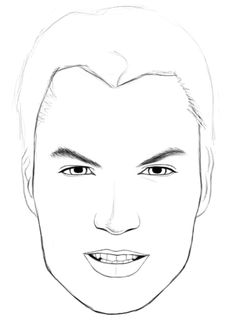 How to draw realistic faces (male)