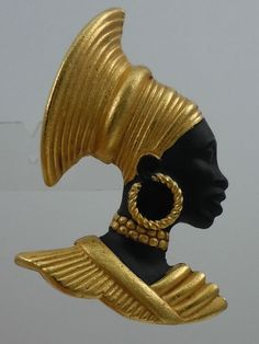 ASKEW LONDON BLACKAMOOR/QUEEN BROOCH