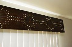 Cornice board with nailhead trim
