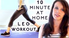 Leg Slim + Butt Lift Workout! 10 Minute Home Exercises for Beginners wit...