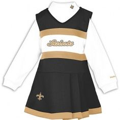 New Orleans Saints Girls Cheerleader Outfit