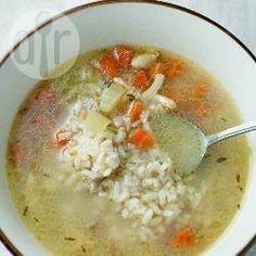 Фото рецепта: Простой куриный суп с рисом