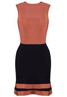 Dream it Wear it - A Line Colorblock Bandage Dress Coral Black, $140.36 (http://www.dreamitwearit.com/a-line-colorblock-bandage-dress-coral-black/)