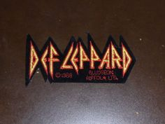 VINTAGE 1980'S DEF LEPPARD HEAVY METAL BAND PATCH