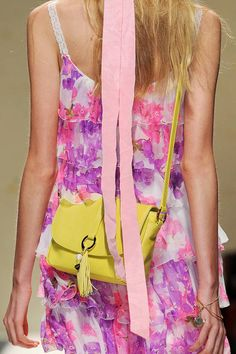 Yellow bursts at Blugirl Spring 2013 Ready-to-Wear