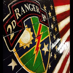 Just listed a new military flag to the shop. As usual, it is done in rustic fashion and honors the United States Army Rangers 2nd Battalion!