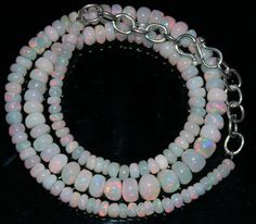 """53 Crts 1 Strands 3 to 7 mm 15"""" Beads necklace  Ethiopian Welo Opal  AA+++43015"""