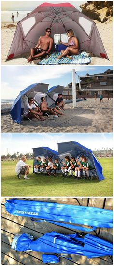 A beach umbrella, sun tent, rain shelter, and more all in one, the Portable Sun and Weather Shelter gives you instant portable protection from the elements regardless of your activity.