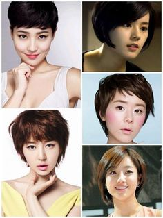 Korean short cut hairstyles.