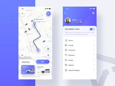 Travel sharing app designed by YM for VisualMaka. Connect with them on Dribbble; Web Design Mobile, Mobile Application Design, App Ui Design, Map Design, Interface Design, Site Design, App Map, Design Responsive, Taxi App