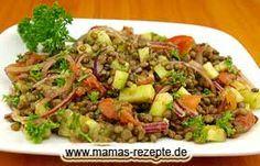 Linsensalat orientalisch gewürzt | Mamas Rezepte - mit Bild und Kalorienangaben