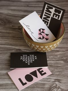 Free Printable Valentine's Day Cards. These would be fun attached to sweets or gifts.