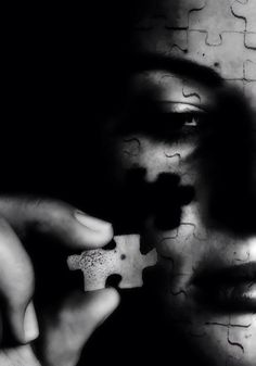 """""""The problem is that we always look for the missing piece of the puzzle instead of finding a place for the one in our hand.PEZZO DOPO PEZZO"""" by Daniele Porceddu. Shadow Art, Beautiful Disaster, Missing Piece, Piece Of Me, Puzzle Pieces, Artist Art, Dark Art, Creepy, Street Art"""