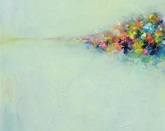 Art PRINT - giclee - 16 x 20-abstrait paysage 3 - peinture à l'huile-mur décor art-mur décor-Accueil