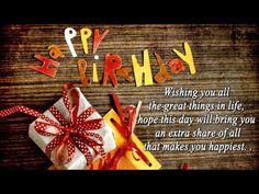 Happy Birthday Wishes, Birthday Quotes, Best Birthday SMS Messages