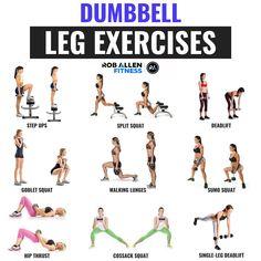 Dumbbell Leg Exercises! For home, garden or gym workout