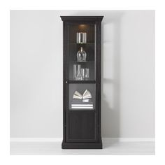 MALSJÖ Glass-door cabinet IKEA The glass shelves are adjustable so you can customize your storage as needed.