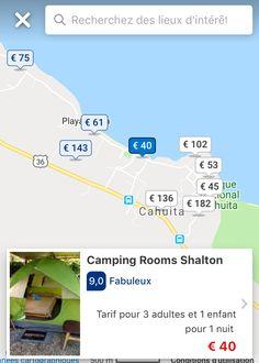Cahuita, Camping, Costa Rica, Map, Night, Places, Travel, Kid, Campsite