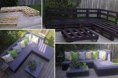 reuse project for the deck, diy, how to, outdoor furniture, painted furniture, pallet, repurposing upcycling, Pallet Deck Furniture Easy to build