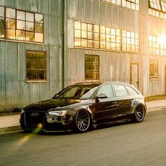slammed and bagged Audi wagon