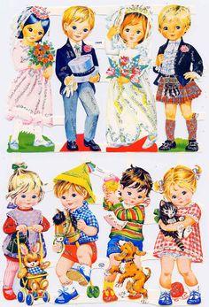 Collants années 70, Paper dolls, Stickers, 70's