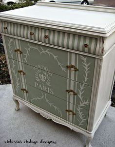 Victoria's Vintage Designs: Beach House Dresser I will try this if I ever find a dresser like this one