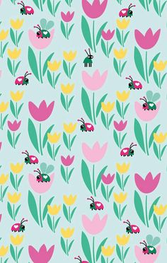 Ladybugs She's A Lady, Spring Wallpaper, Gift Wrapper, Floral Drawing, Inspirational Gifts, Graphic Design Illustration, Doodle Art, Cute Wallpapers, Iphone Wallpaper