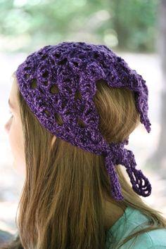 Hippie crochet bandana Boho headband Lace by MarryGKnitCrochet, $24.00