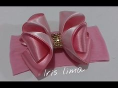 Laço Kanzashi 1 by Tatiana Karina - YouTube