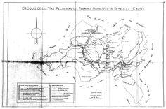 Croquis de las vías pecuarias de Benaocaz (Cádiz). 1958.