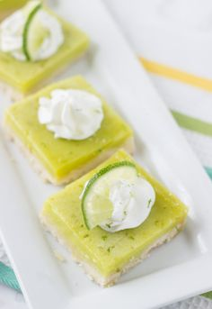 Coconut Lime Bars--maybe substitute Malibu for coconut extract...