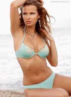 Beach Goddess Blue Push Up Bikini Swimsuit - Jolidon Designer Swimwear