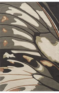 Butterfly wing area rug.  I can see this in a cream colored bedroom.