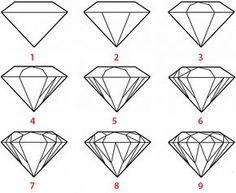 voila comment dessiner un diamant facilement. A vous de jouer maintenant