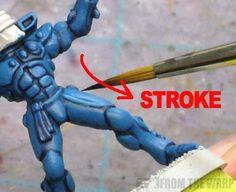 warhmammer 40k paintbrush stroke path
