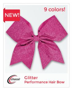 Glitter Performance Hair Bow by Chassé