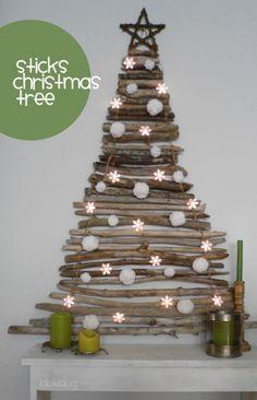 Leuke alternatieve kerstboom voor als je een kleine ruimte hebt #loveit