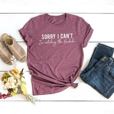 Bachelor Fan Tees $12.99 Fall Shirts, Graphic Tees, Unisex, Trending Outfits, Sweatshirts, Sleeves, T Shirt, Handmade, Clothes