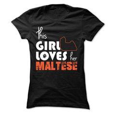 This Girl Loves Her Maltese T Shirts, Hoodies. Get it here ==► https://www.sunfrog.com/Pets/This-Girl-Loves-Her-Maltese-xqzvl-Ladies.html?41382