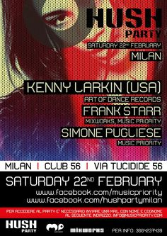 Hush Party with Kenny Larkin at Club 56