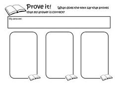 Text evidence to support answers. This will work nicely with the new writing standards and having to validate answers from videos and texts. Reading Resources, Reading Strategies, Reading Skills, Reading Comprehension, Reading Activities, Citing Text Evidence, Classroom Freebies, Classroom Ideas, Third Grade Reading