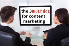 Do you find yourself short on time to focus your efforts on content marketing? Read my Three Must Do's for Content Marketing to help know where to start. To Focus, Content Marketing, Effort, Third, Finding Yourself, Reading, Reading Books, Inbound Marketing
