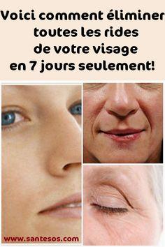 Voici comment éliminer toutes les rides de votre visage en 7 jours seulement!#comment #éliminer #rides #visage #astucesbeauté Makeup Tricks, Fitness Inspiration, Health Fitness, Nutrition, Skin Care, Exercise, Cream, Beauty, Anti Ride