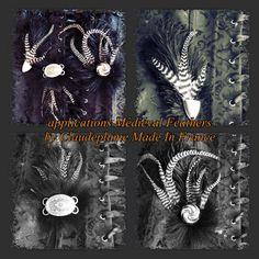 Le chouchou de ma boutique https://www.etsy.com/fr/listing/462553260/lot-de-3-applications-medieval-feathers