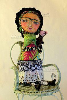 OOAK Art Doll // Frida Kahlo // Tropical Forest Frida doll. $149.00, via Etsy.