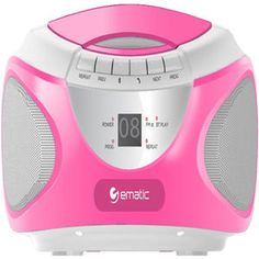 Ematic EBB9224PN Bluetooth CD Boombox - Pink